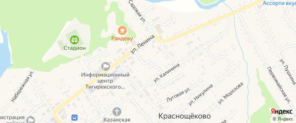 Сибирский переулок на карте села Краснощёково с номерами домов