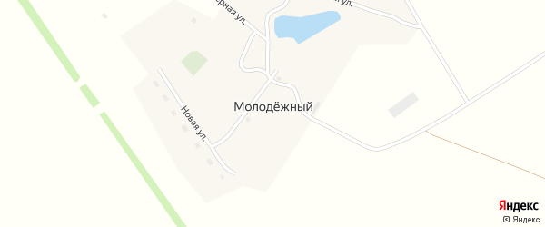 Школьная улица на карте Молодежного поселка с номерами домов