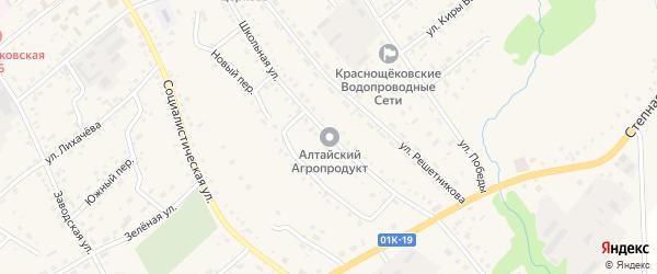 Школьная улица на карте села Краснощёково с номерами домов