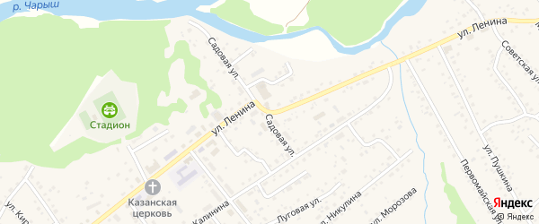 Улица Ленина на карте села Краснощёково с номерами домов
