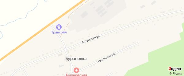 Алтайская улица на карте поселка Бурановки с номерами домов