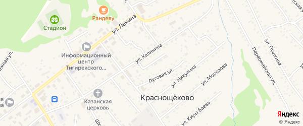 Почтовый переулок на карте села Краснощёково с номерами домов