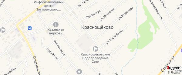 Улица Победы на карте села Краснощёково с номерами домов
