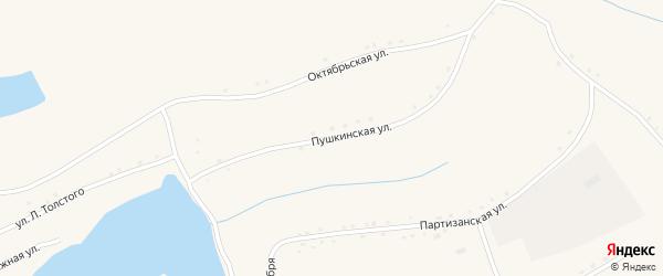 Пушкинская улица на карте села Парфеново с номерами домов