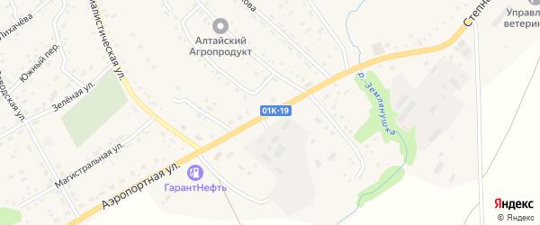 Степная улица на карте села Краснощёково с номерами домов