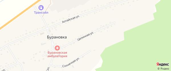 Целинная улица на карте поселка Бурановки с номерами домов