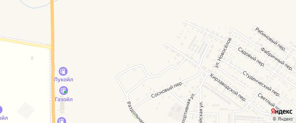 Кедровый переулок на карте Алейска с номерами домов