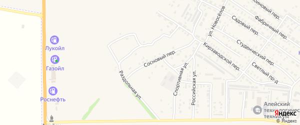 Сосновый переулок на карте Алейска с номерами домов