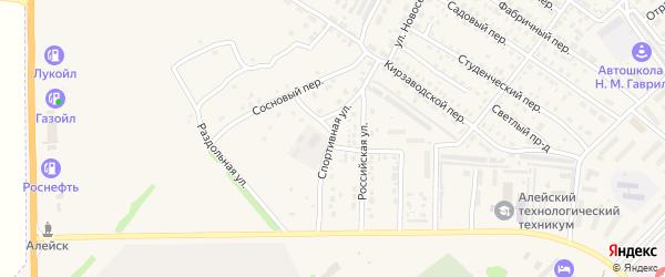 Спортивная улица на карте Алейска с номерами домов