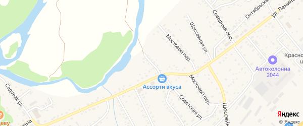 Речной переулок на карте села Краснощёково с номерами домов