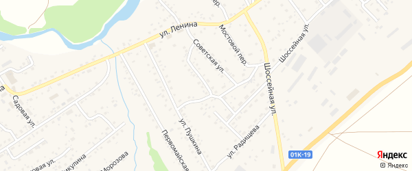 Пионерская улица на карте села Краснощёково с номерами домов
