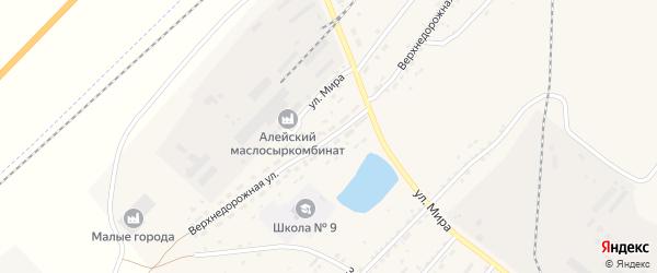 Верхнедорожная улица на карте Алейска с номерами домов