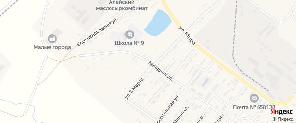 Западная улица на карте Алейска с номерами домов
