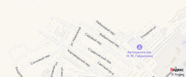 Садовый переулок на карте Алейска с номерами домов