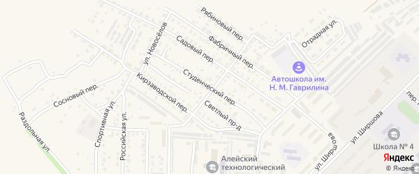 Студенческий переулок на карте Алейска с номерами домов