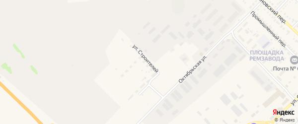 Улица Строителей на карте Алейска с номерами домов