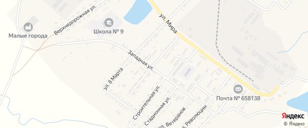 Новозаводская улица на карте Алейска с номерами домов