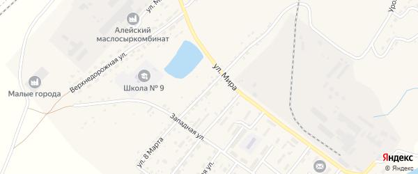 Улица 8 Марта на карте Алейска с номерами домов