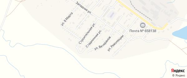 Стадионная улица на карте Алейска с номерами домов