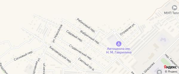 Фабричный переулок на карте Алейска с номерами домов