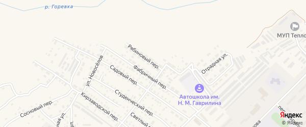 Рябиновый переулок на карте Алейска с номерами домов