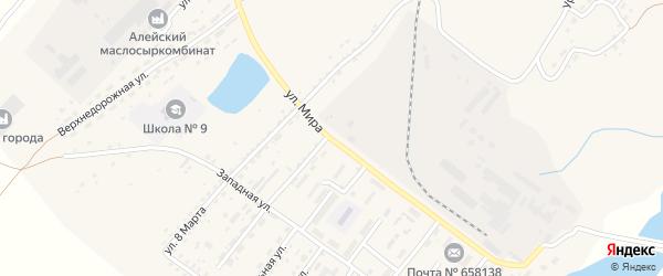 Улица Мира на карте Алейска с номерами домов