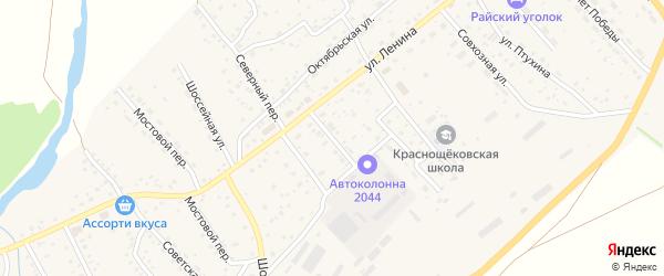 Транспортный переулок на карте села Краснощёково с номерами домов