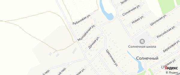 Дачная улица на карте Солнечного поселка с номерами домов