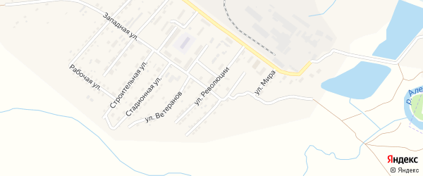 Улица Революции на карте Алейска с номерами домов