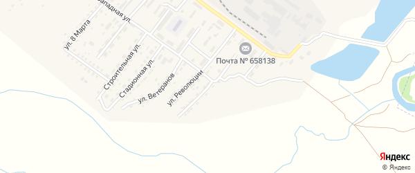 Красногвардейская улица на карте Алейска с номерами домов