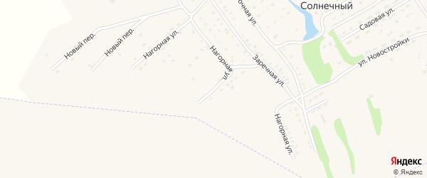 Нагорная улица на карте Солнечного поселка с номерами домов
