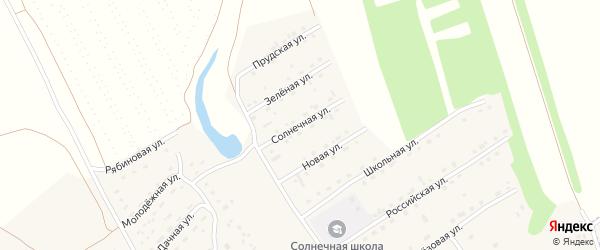 Солнечная улица на карте Солнечного поселка с номерами домов