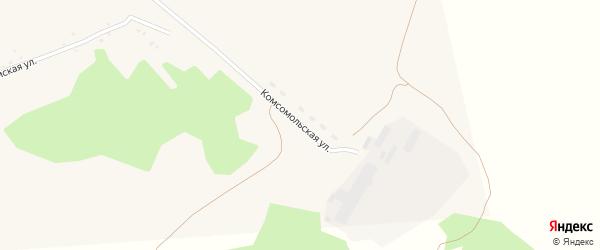 Комсомольская улица на карте села Парфеново с номерами домов