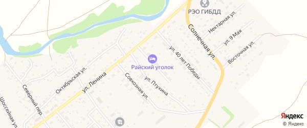 Улица Мира на карте села Краснощёково с номерами домов