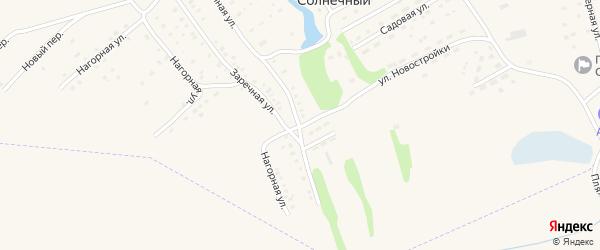 Цветочная улица на карте Солнечного поселка с номерами домов