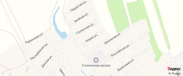 Новая улица на карте Солнечного поселка с номерами домов