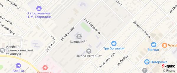 Гвардейская улица на карте Алейска с номерами домов
