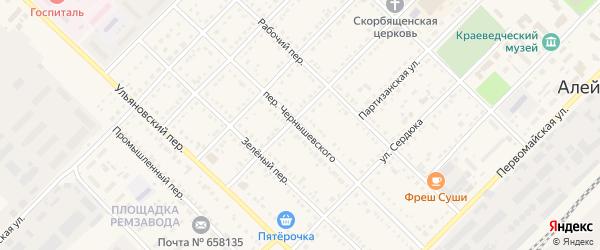 Переулок Чернышевского на карте Алейска с номерами домов