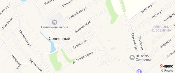 Молодежная улица на карте Солнечного поселка с номерами домов