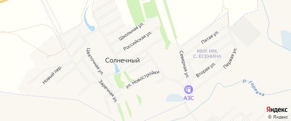 Карта Солнечного поселка в Алтайском крае с улицами и номерами домов