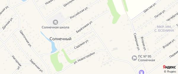 Новый переулок на карте Солнечного поселка с номерами домов