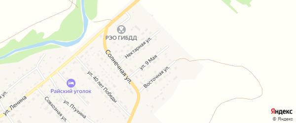 9 Мая улица на карте села Краснощёково с номерами домов