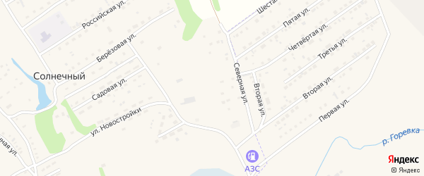Северная улица на карте Солнечного поселка с номерами домов