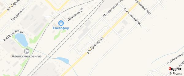 Заводской переулок на карте Алейска с номерами домов