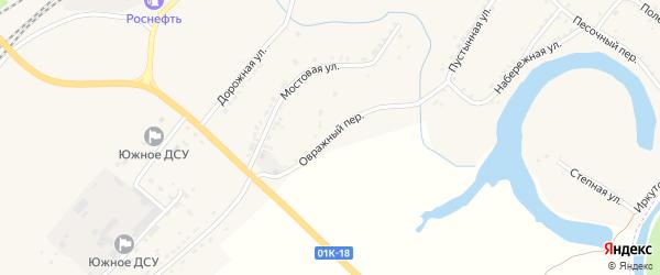 Овражный переулок на карте Алейска с номерами домов