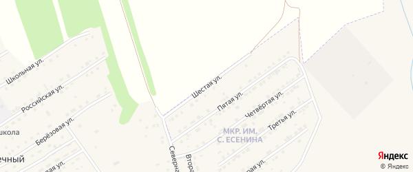 Шестая улица на карте микрорайона им С.Есенина с номерами домов