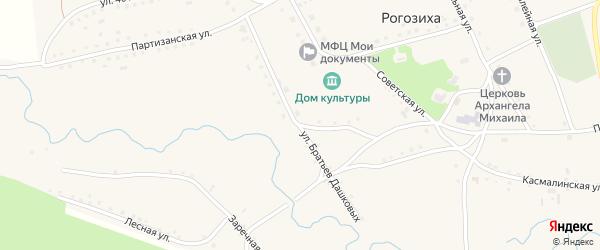 Улица Братьев Дашковых на карте села Рогозиха с номерами домов