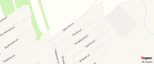 Пятая улица на карте микрорайона им С.Есенина с номерами домов