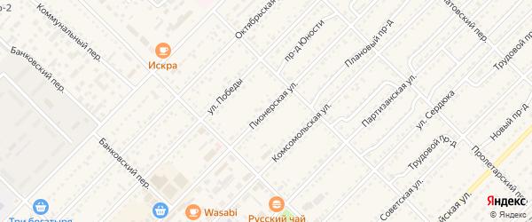 Пионерская улица на карте Алейска с номерами домов