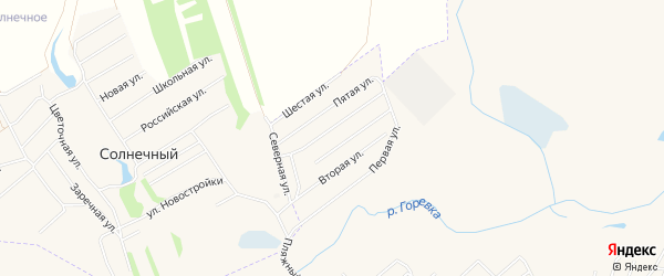 Карта микрорайона им С.Есенина города Алейска в Алтайском крае с улицами и номерами домов